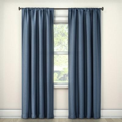 Lorcan Light Blocking Curtain Panel Blue (52 x95 )- Eclipse™