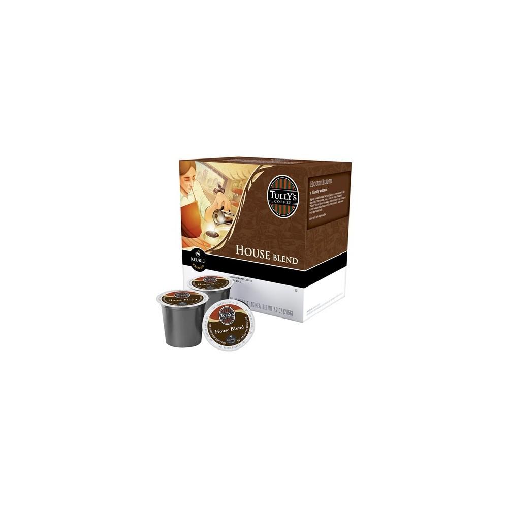 Tully's Coffee House Blend Medium Roast Coffee - Keurig K-Cup Pods - 18ct