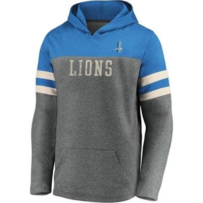 NFL Detroit Lions Men's Gray Retro Hoodie