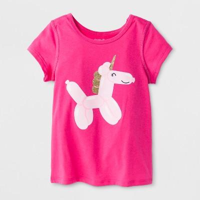 9d8039b8c46cb1 Toddler Girls  Adaptive Short Sleeve Unicorn Graphic T-Shirt - Cat   Jack™
