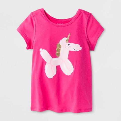 3df38f25fc7 Toddler Girls  Adaptive Short Sleeve Unicorn Graphic T-Shirt - Cat   Jack™  Pink