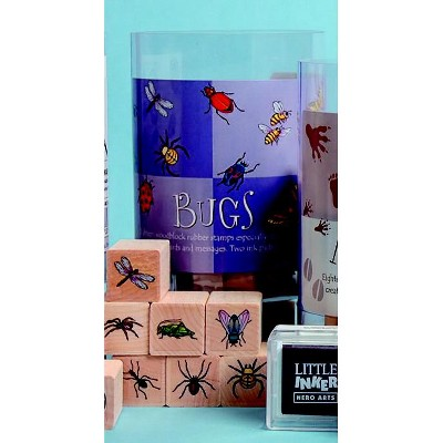 Hero Arts Bugs Stamp Set, 3 x 5 Inch Tub, set of 18, includes Ink Cube