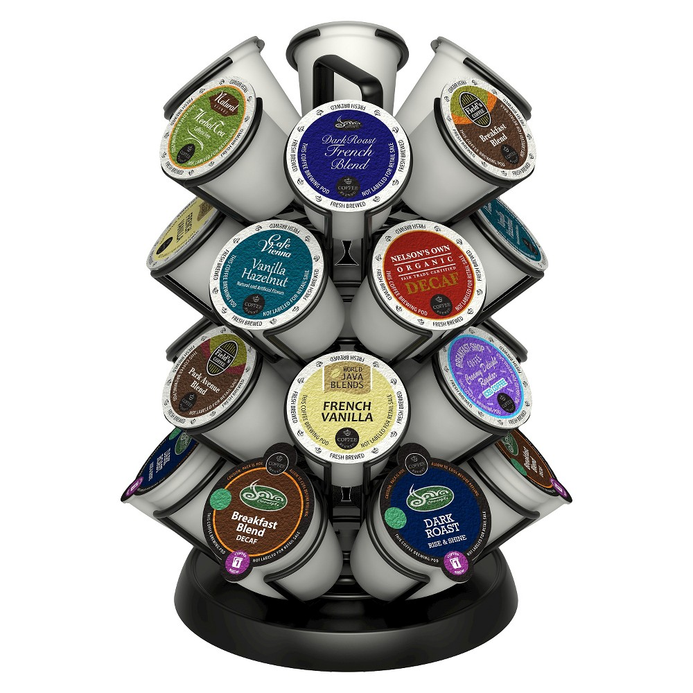 Image of Java Concepts Deluxe Coffee Carousel Pod Holder for K-cups - Black