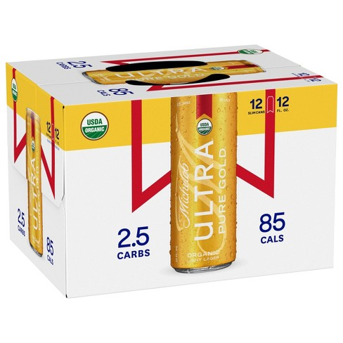 Michelob Ultra Pure Gold Organic Light Beer - 12pk/12 fl oz Slim Cans - image 1 of 1