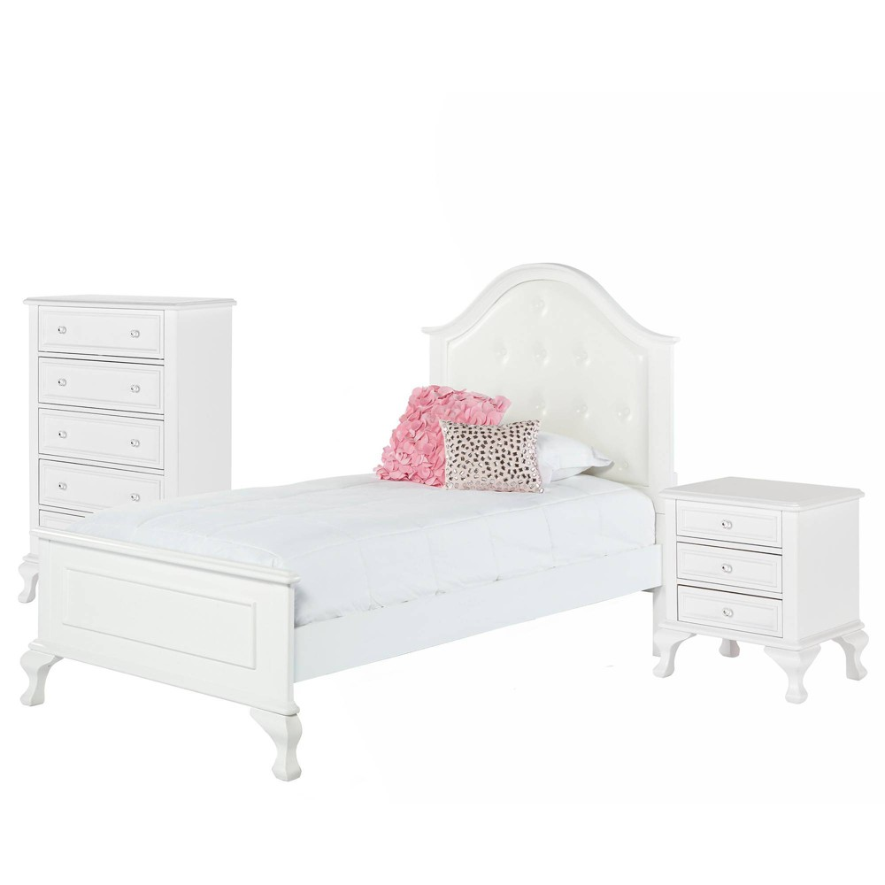 Image of 3pc Twin Jenna Panel Bedroom Set White - Picket House Furnishings