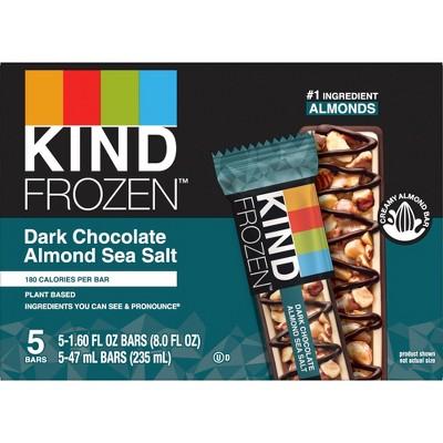 KIND Frozen Dark Chocolate Almond Sea Salt Bars - 5ct
