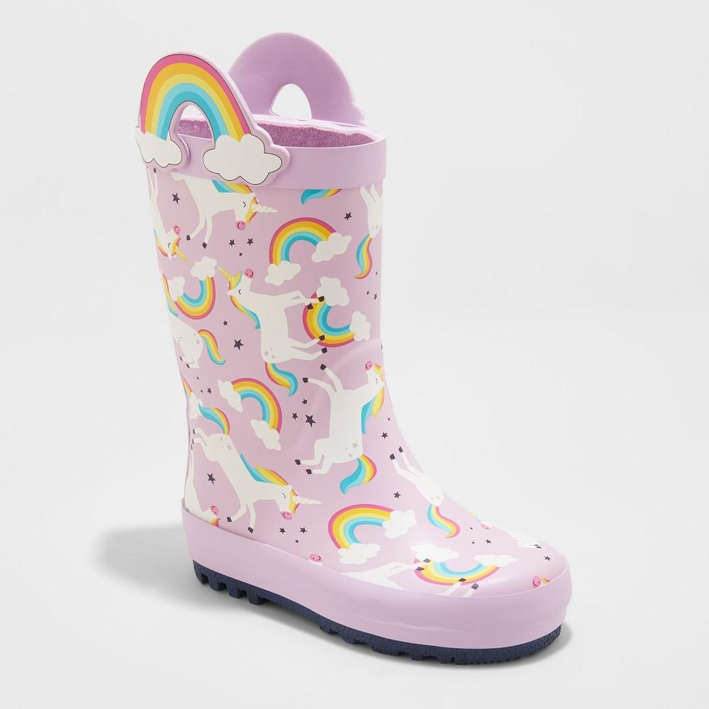 Toddler Girls' Reveliza Rain Boots - Cat & Jack Lilac (Purple) 7