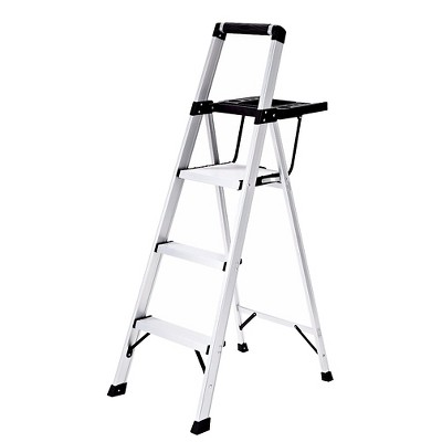 Rubbermaid 3-Step Lightweight Aluminum Step Stool with Oversized Project Tray