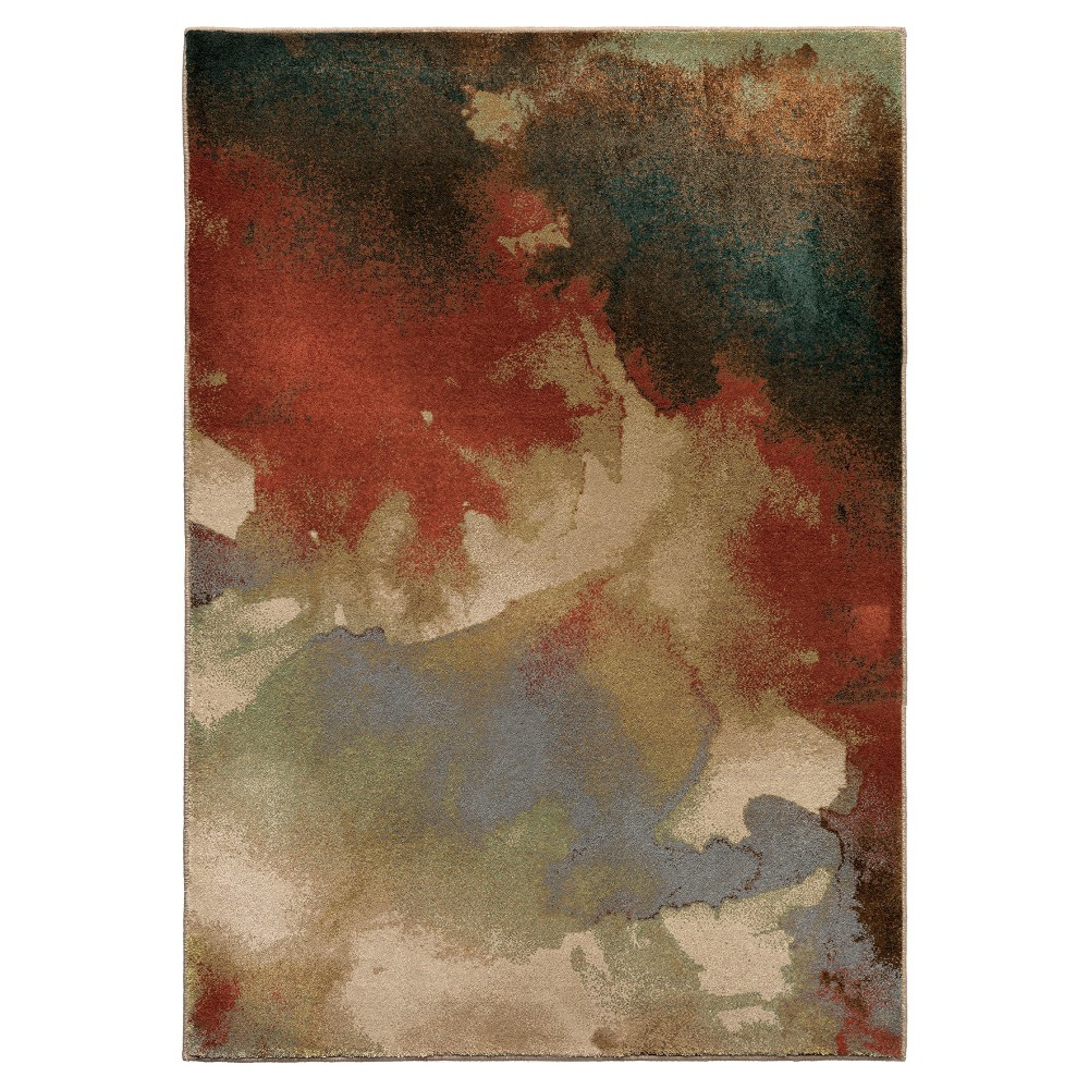 Abstract Woven Area Rug - (5'3