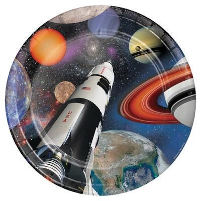 "Space Blast 9"" Paper Plates - 8ct"
