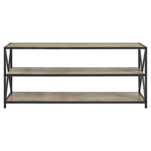 """Frame Metal and Wood Console Table 60"""" - Saracina Home - image 1 of 3"""