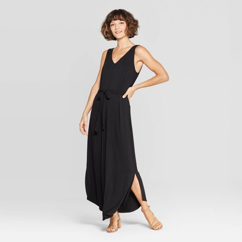 bd122101117 Women s Sleeveless V-Neck Knit Maxi Dress - A New Day™ Black   Target