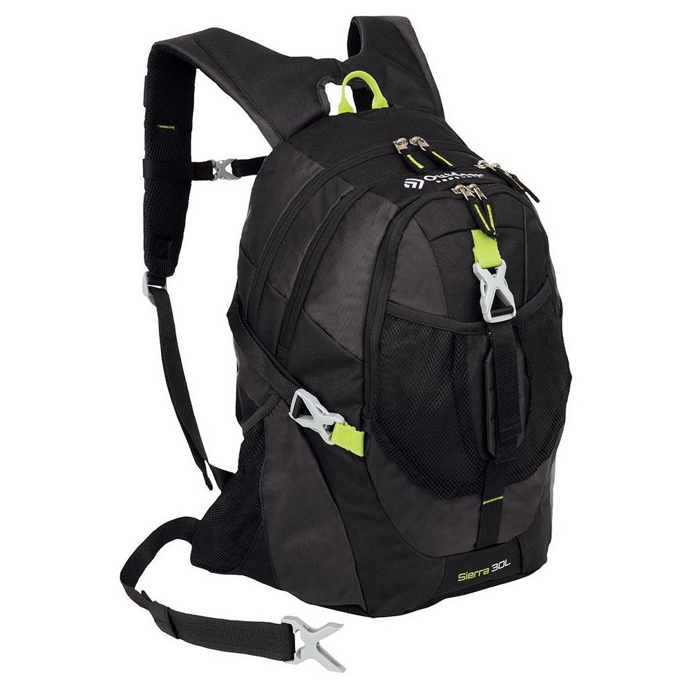 """Image of """"Outdoor Products Sierra 19.7"""""""" Day Backpack - Black, Black Silver"""""""