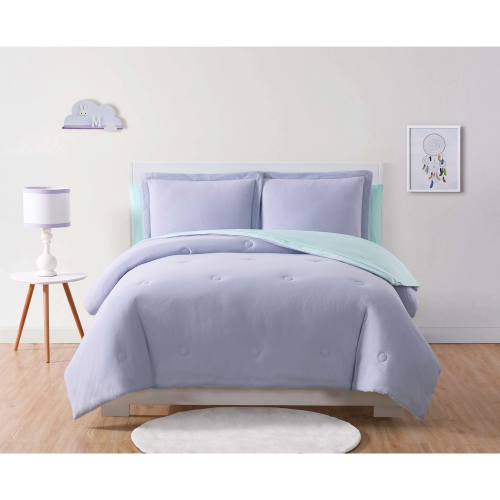 Twin Anytime Jersey Bed In A Bag Bedding Set Lavender/Aqua (Purple/Blue) - My World