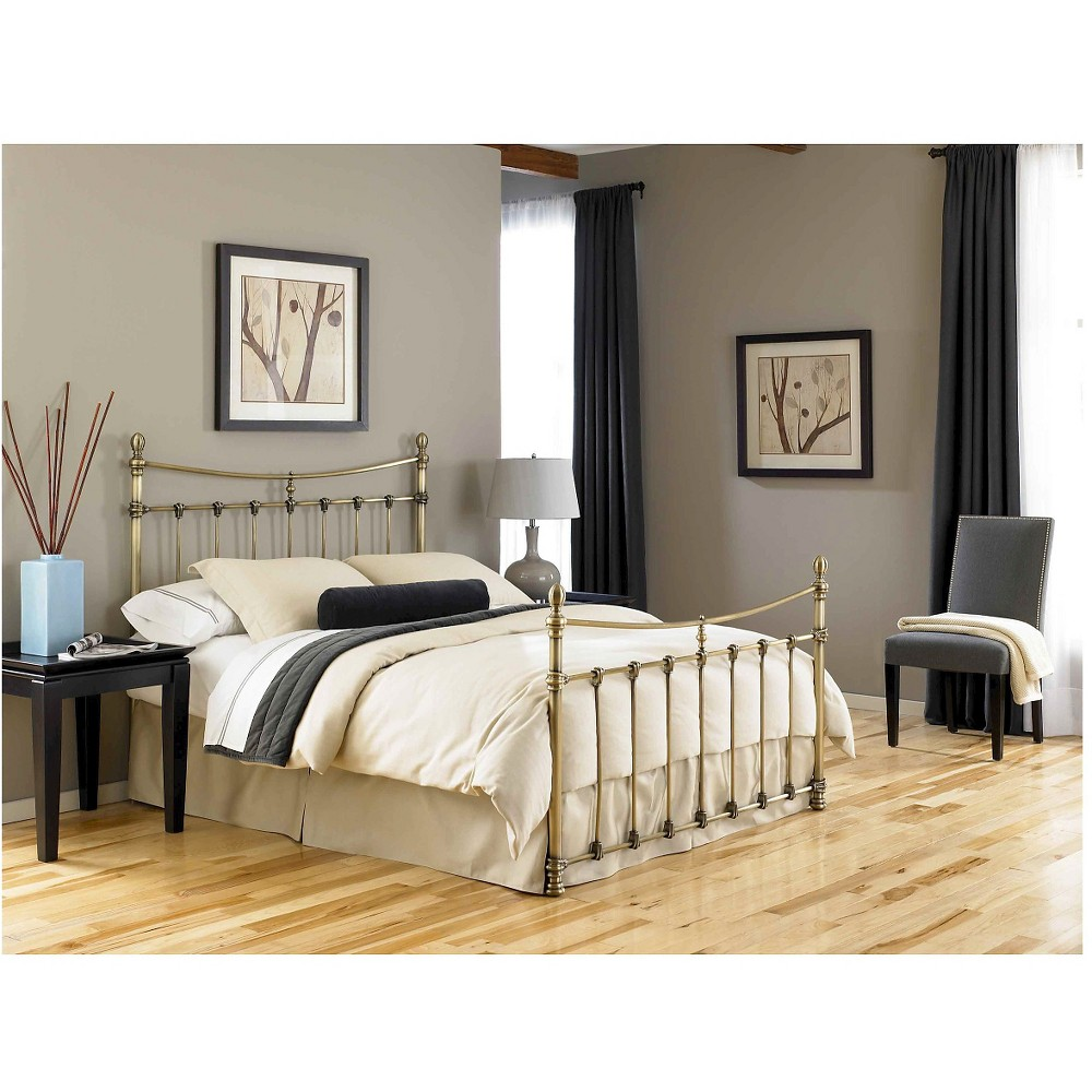 Fashion Bed Group Leighton Bed - Antique Brass (Full), Gold