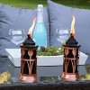 2pk Steel Tulip Jar Outdoor Torch - Copper and Black - Sunnydaze Decor - image 3 of 4