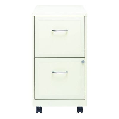 Hirsh Industries Space Solutions File Cabinet on Wheels 2 Drawer - Pearl White