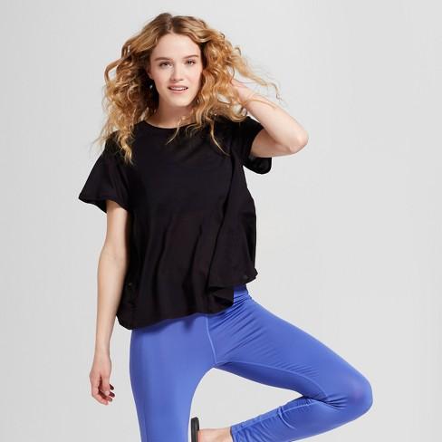 Women's Sheer Flutter Back T-Shirt - JoyLab™ - image 1 of 2