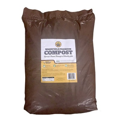 Wakefield wfcomp-40 BioChar Garden Treatment Premium Compost for Healthier Soil OMRI Listed 1 Cubic Feet Bag
