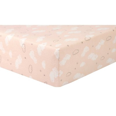 Trend Lab Cloud Sprinkles Flannel Fitted Crib Sheet