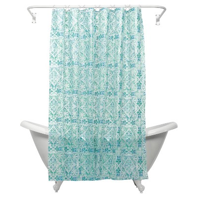 Morocco PEVA Geometric Shower Curtain - India Ink®