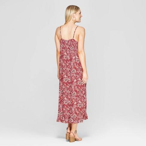 ff816d39f57 Women s Paisley Print Sleeveless Maxi Dress - Knox Rose™ Mahogany   Target