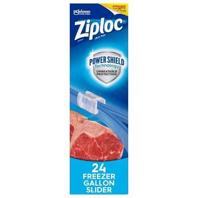 Ziploc Slider Freezer Gallon Bags with Power Shield Technology - 24ct