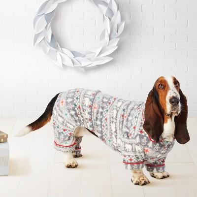 Pet Holiday Fuzzy Bear Fair Isle Pajamas - Wondershop™ White M