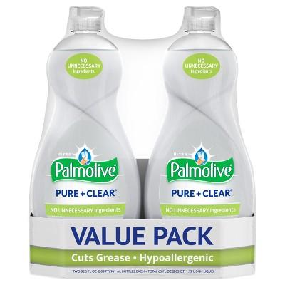 Palmolive Ultra Liquid Dish Soap - Pure and Clear - Original - 32.5 fl oz/2ct