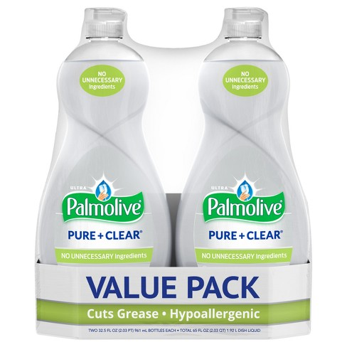 Palmolive Ultra Pure + Clear Liquid Dish Soap - 32.5 fl oz/2pk - image 1 of 3