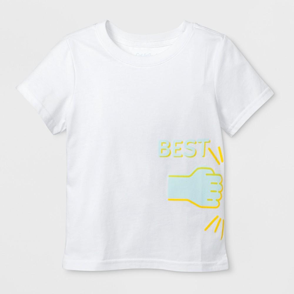 Toddler Short Sleeve 'Best' Graphic T-Shirt - Cat & Jack White 2T, Toddler Unisex