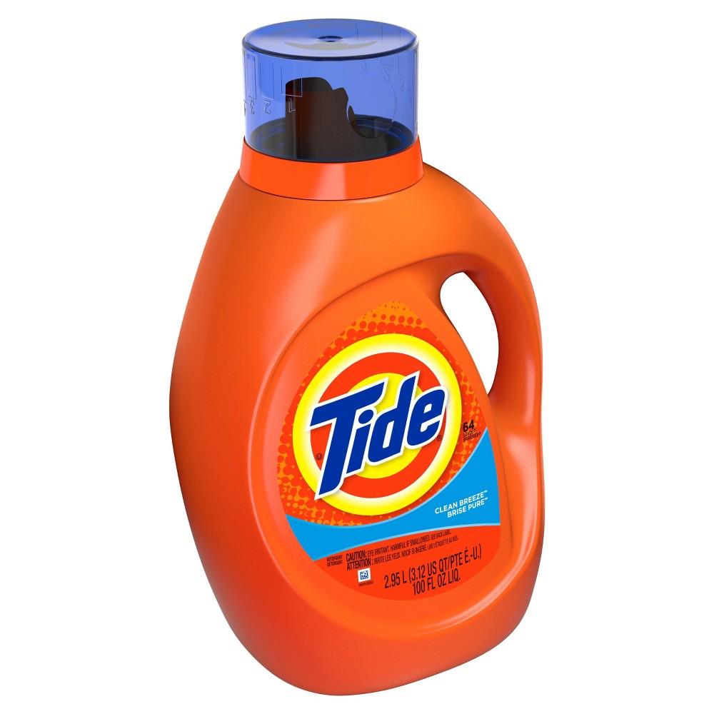 Tide Clean Breeze Liquid Laundry Detergent - 100 fl oz