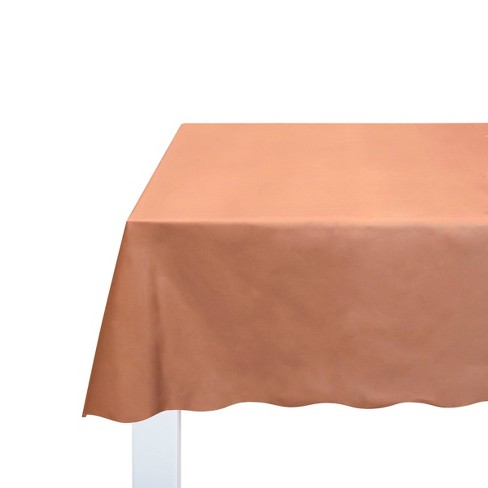 Disposable Chrome Table Cover Pink/Gold - Spritz™ - image 1 of 4
