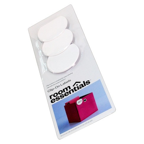 3pk Dry Erase Fabric Bin Labels White - Room Essentials™ - image 1 of 3