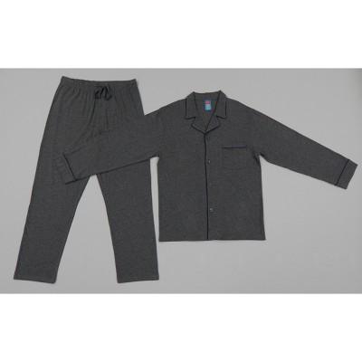 Hanes Men's Long Sleeve Lounge Pajama Set - Charcoal Heather