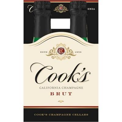 Cook's Brut Champagne - 4pk/187ml Bottle