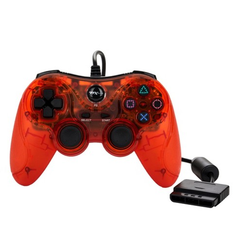 TTX Tech Wired Controller Compatible with PS2/PS1, Red - image 1 of 4