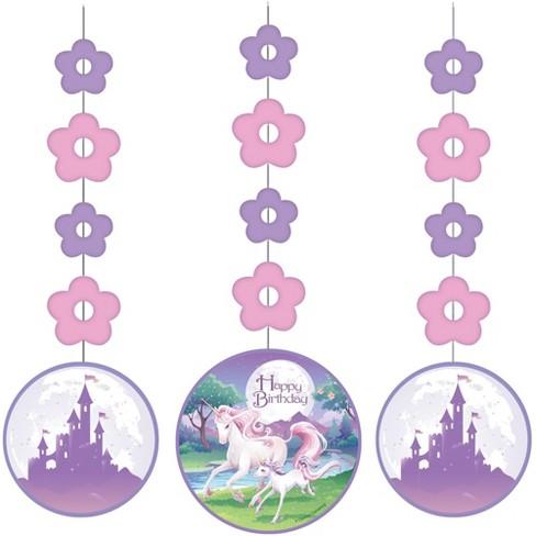 36ct Unicorn Fantasy Print Hanging Decorations Target