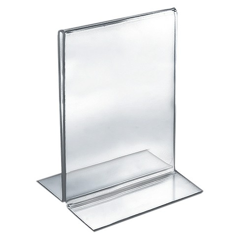"Azar® 5.5"" x 8.5"" Double-Foot Acrylic Sign Holder 10ct - image 1 of 1"