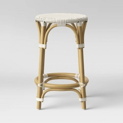 Perry Rattan Backless Woven Counter Stool White - Threshold™