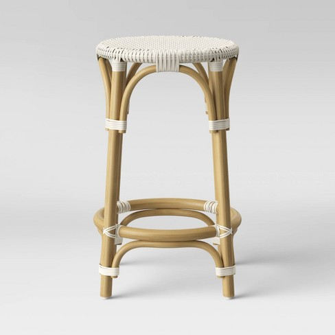 Perry Rattan Backless Woven Counter Height Barstool - Threshold™ - image 1 of 3