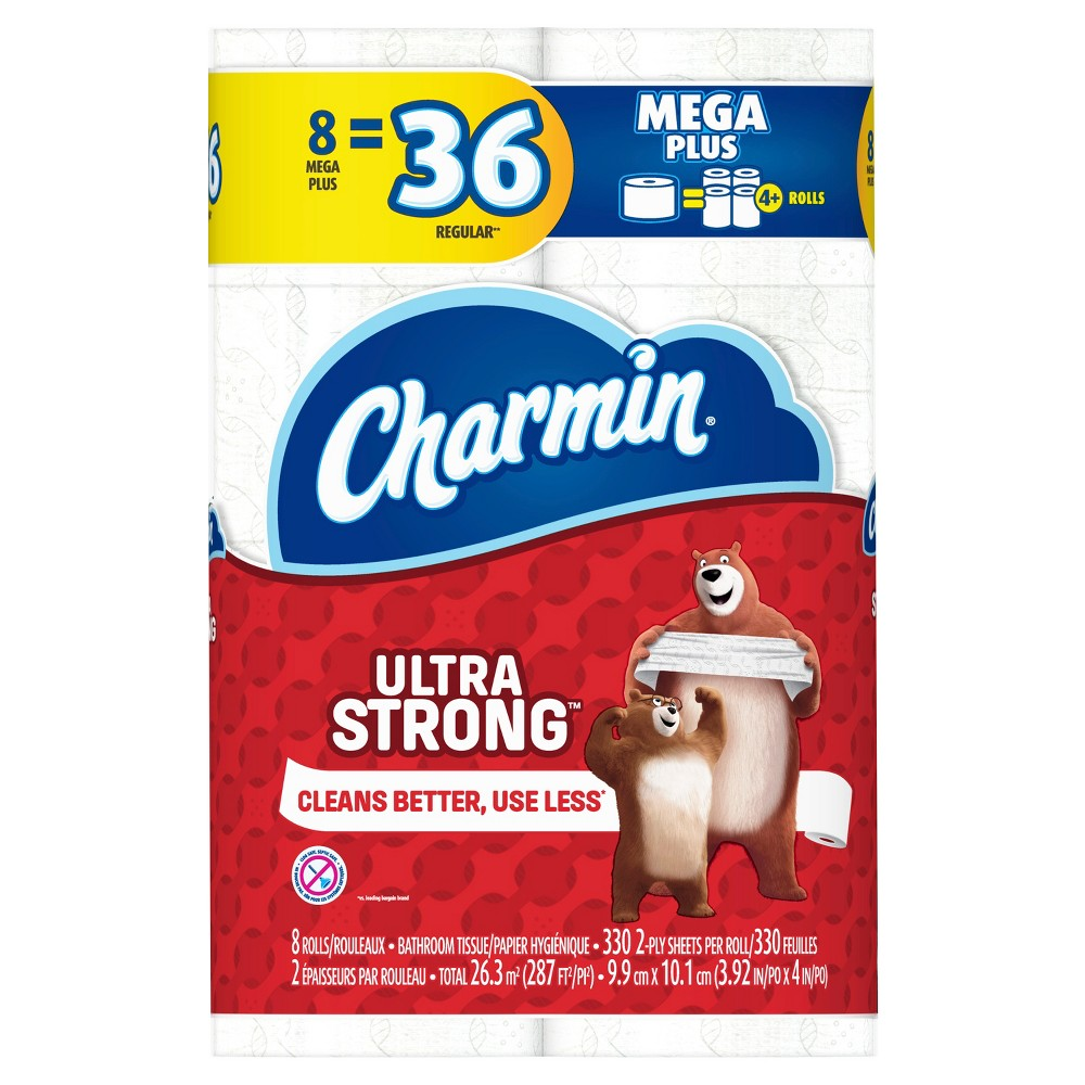 Charmin Ultra Strong Toilet Paper - 8 Mega Plus Rolls