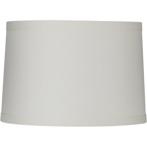 Springcrest White Linen Medium Drum, White Drum Lamp Shade