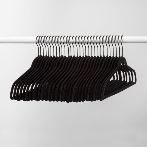 30pk Non Slip Velvet Hanger Black Made By Design