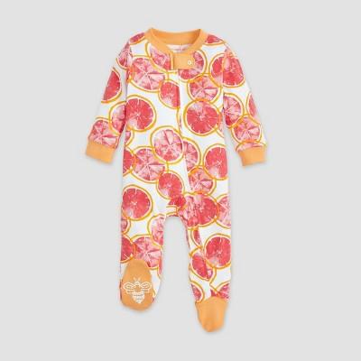 Burt's Bees Baby® Baby Girls' Organic Cotton Grapefruit Sleep N' Play - Orange 0-3M