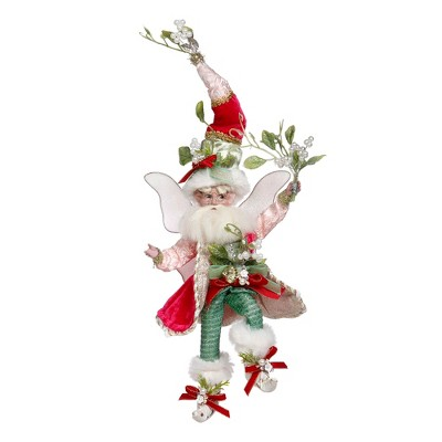 Mark Roberts Products Mark Roberts Red and Green Mistletoe Christmas Fairy, Small 9-Inches
