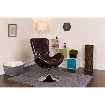 Flash Furniture Egg Series Side Reception Chair with Bowed Seat