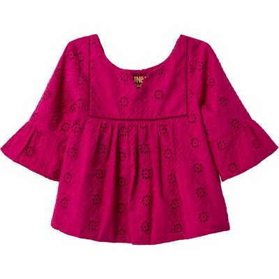 c3ea2108cc428c Toddler Girls' 3/4 Sleeve Blouse - Genuine Kids® from OshKosh Magenta Quartz