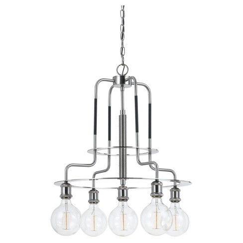 Transformer Metal Chandelier 60w X 5 (Edison Bulbs Included) - image 1 of 1