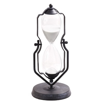 """Lakeside One-Hour Decorative 14"""" Hourglass - Swiveling Vintage Stand Style Device"""